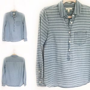 J. Crew Chambray Striped Button Down Shirt